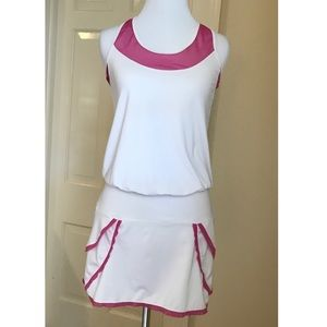 Lucky In Love Tennis Dress White and Pink Size S